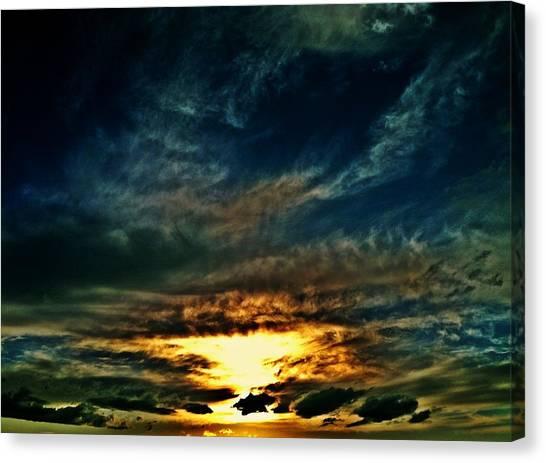 Collapsing Sunset Canvas Print