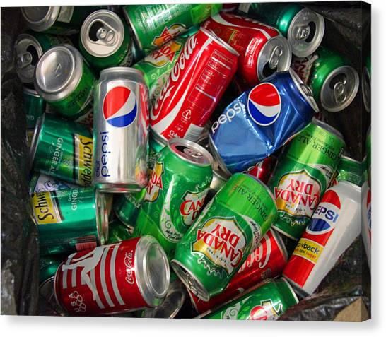 Collection Of Cans 02 Canvas Print