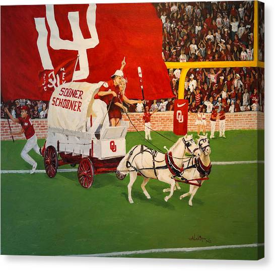 College Football In America Canvas Print