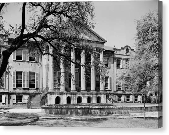 College Of Charleston Main Building 1940 Canvas Print