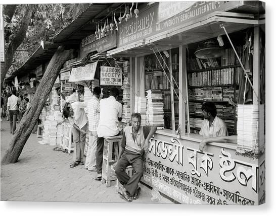 College Street Calcutta  Canvas Print