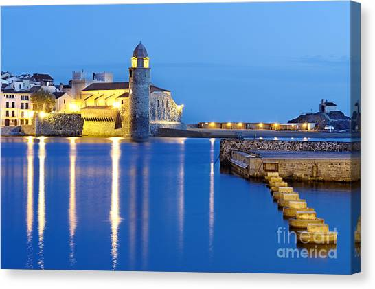 Collioure Harbour France Canvas Print