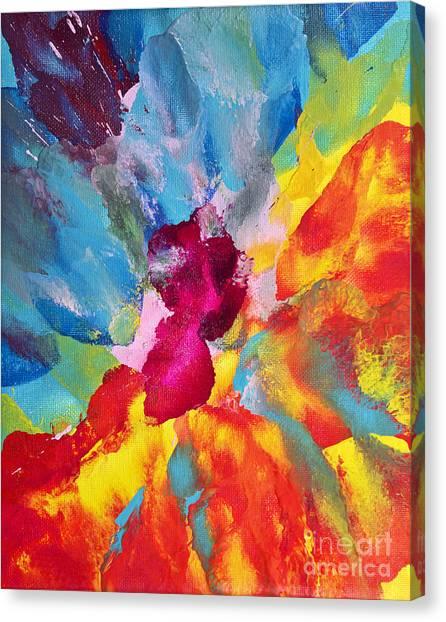 Collision Of Color Canvas Print