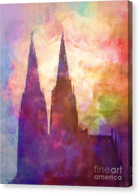 Cologne Canvas Print - Cologne Lights by Lutz Baar