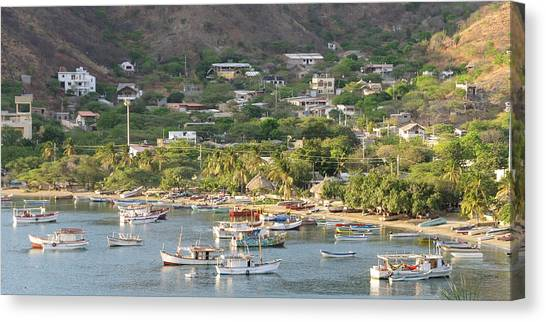 Colombian Canvas Print - Colombia, Taganga by Matt Freedman