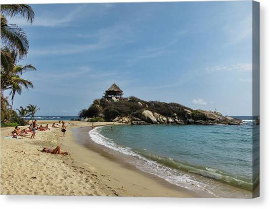 Colombian Canvas Print - Colombia, Tayrona National Park, Cabo by Matt Freedman