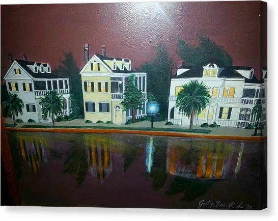 Colonial Lake View Canvas Print