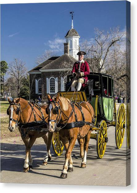 Colonial Transportation Canvas Print by Gene Myers