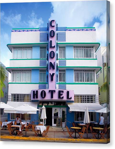 Colony Hotel Daytime Canvas Print