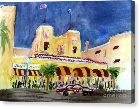 Colony Hotel In Delray Beach Canvas Print