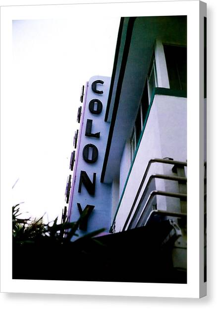 Colony Polaroid Canvas Print