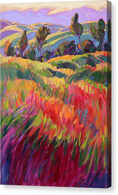 Rolling Hills Canvas Print - Color Bank by Erin Hanson