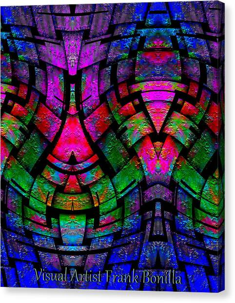 Canvas Print featuring the digital art Color By Jesus by Visual Artist Frank Bonilla