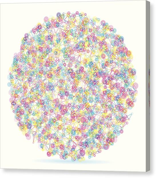 Color Circle Abstract Network Pattern Canvas Print by FrankRamspott
