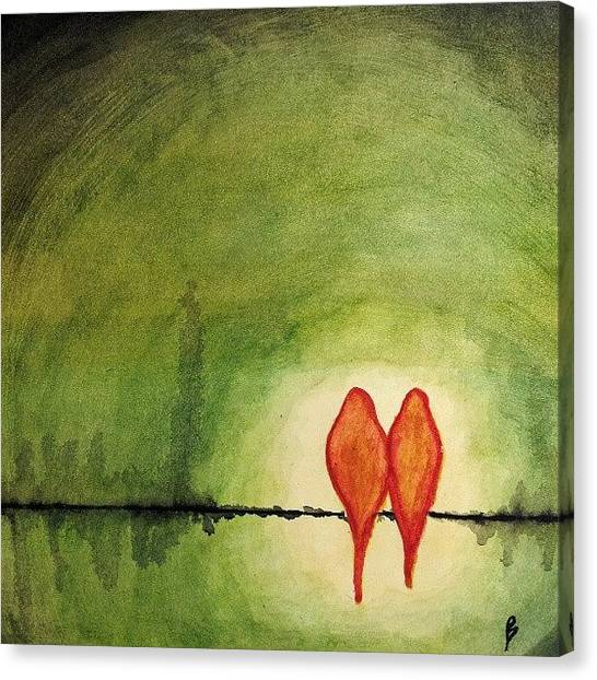 Lovebirds Canvas Print - Color-corrected Version Of My by Bobby Ziegler