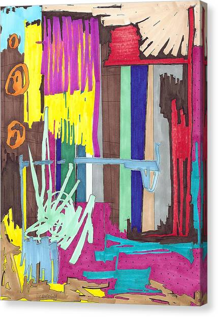 Color Fun Iv Canvas Print by Teddy Campagna