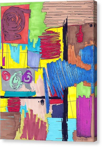 Color Fun Vi Canvas Print by Teddy Campagna