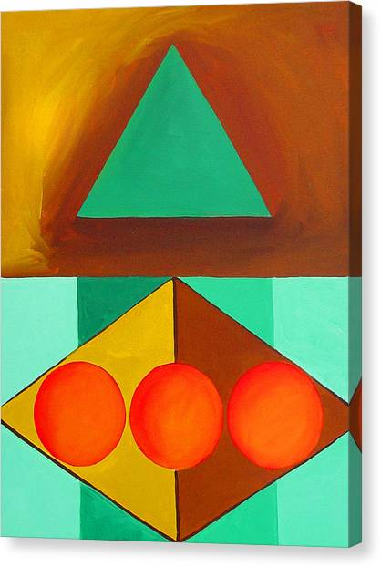Color Geometry - Triangle Canvas Print