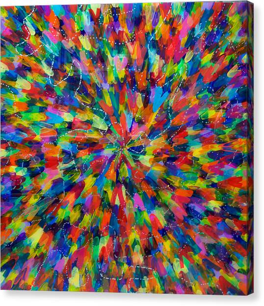 Color Implosion Canvas Print by Patrick OLeary