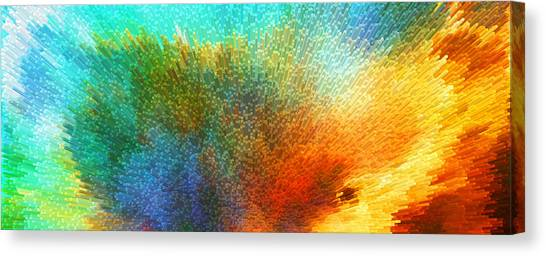Pointillism Canvas Print - Color Infinity - Abstract Art By Sharon Cummings by Sharon Cummings