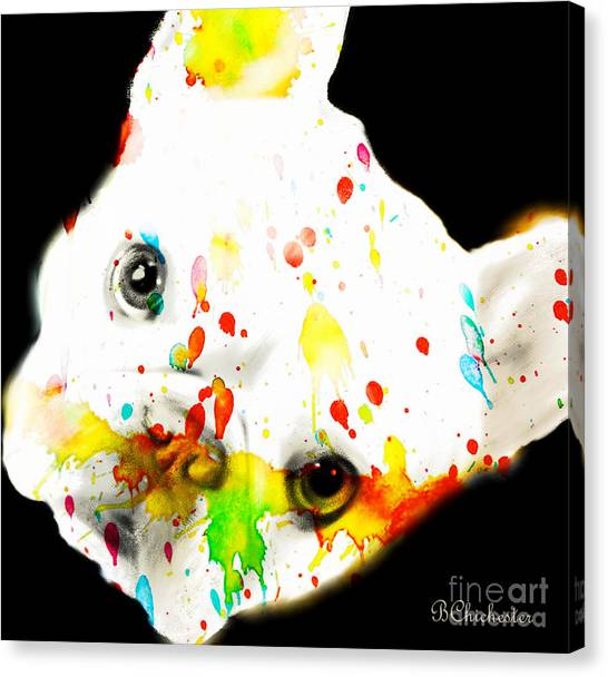 French Bull Dogs Canvas Print - Color Me Frenchie by Barbara Chichester