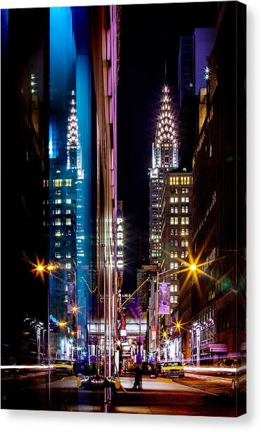 Chrysler Building Canvas Print - Color Of Manhattan by Az Jackson