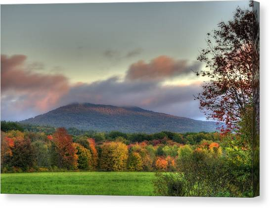 Color On Crotched Mountain - Nh Canvas Print by Joann Vitali