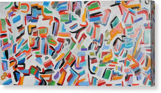 Color Order Oil On Canvas 24 X 48 Canvas Print
