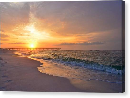 Color Palette Of God On The Beach Canvas Print