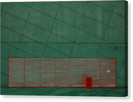 Modern Architecture Canvas Print - Color Play by Inge Schuster