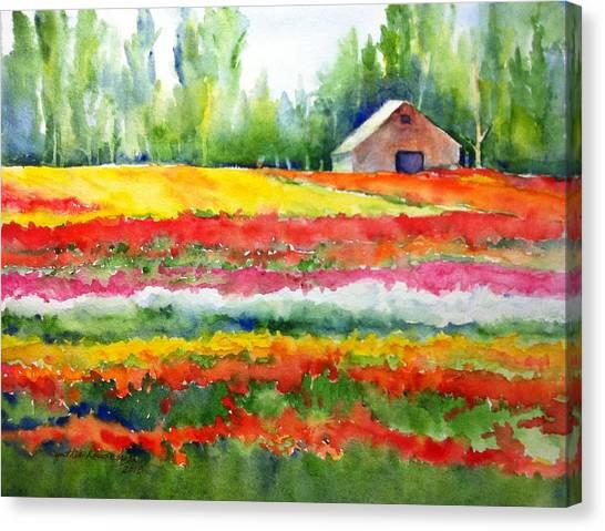 Color Ribbons Canvas Print
