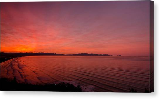 Cape Town Canvas Print - Color Spray Bay by Aaron Bedell