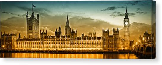 Palace Of Westminster Canvas Print - Color Study London Houses Of Parliament by Melanie Viola