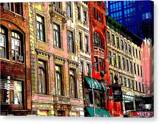 Color The City New York Canvas Print by Thomas Fouch