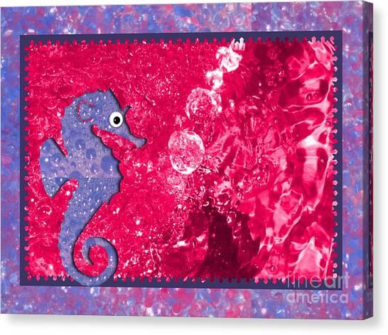 Color Your World Kids Bath Seahorse Canvas Print