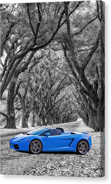 Color Your World - Lamborghini Gallardo Canvas Print