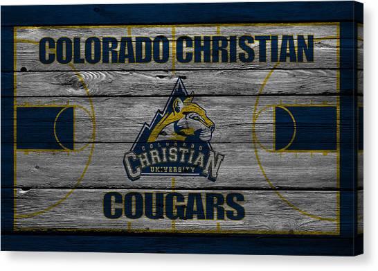 Colorado State University Canvas Print - Colorado Christian Cougars by Joe Hamilton