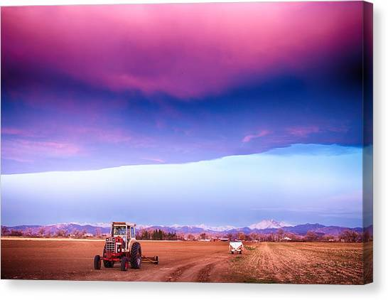 Rocky Mountain Canvas Print - Colorado Country Intense Morning View by James BO  Insogna