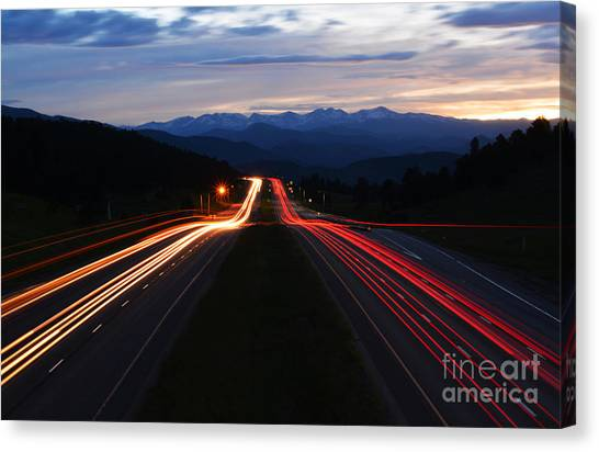 Canvas Print featuring the photograph Colorado Drive by Kate Avery