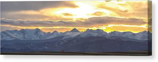 Colorado Front Range Panorama Gold Canvas Print
