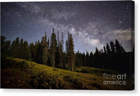 Canvas Print featuring the photograph Colorado Milky Way by Brian Spencer