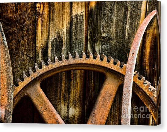 Colorado Mining Gear Canvas Print