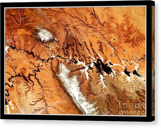 Canvas Print featuring the photograph Colorado Plateau Nasa by Rose Santuci-Sofranko