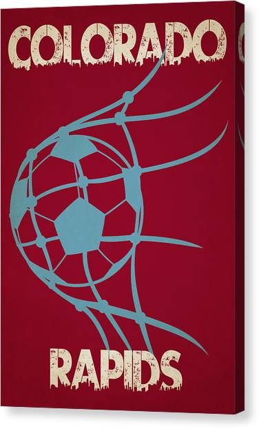 Soccer Balls Canvas Print - Colorado Rapids Goal by Joe Hamilton