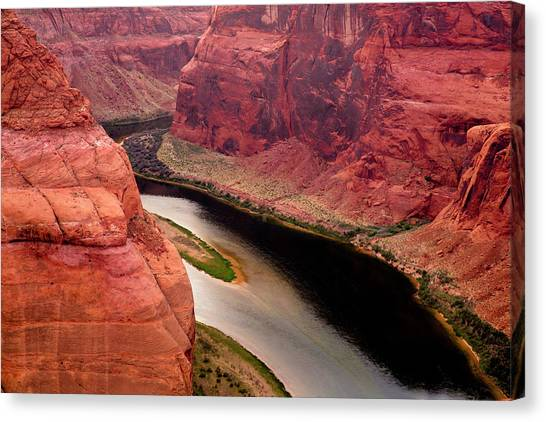 Caverns Canvas Print - Colorado River, Horseshoe Bend National by Jolly Sienda