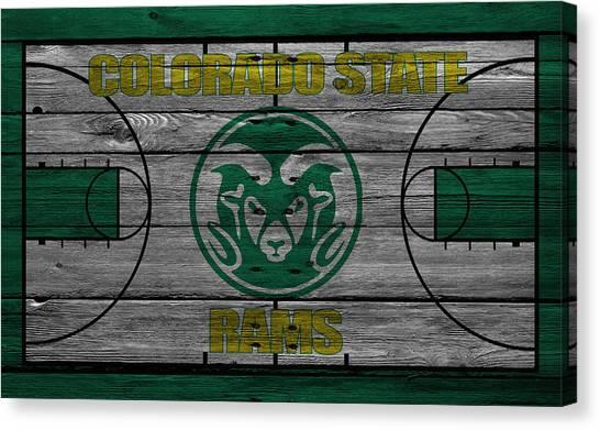 Colorado State University Canvas Print - Colorado State Rams by Joe Hamilton