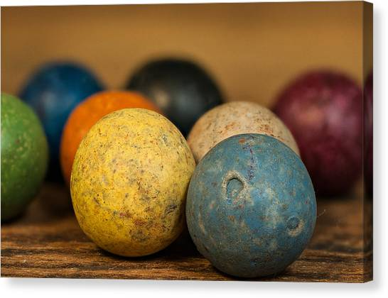 Colored Clay Marbles Canvas Print