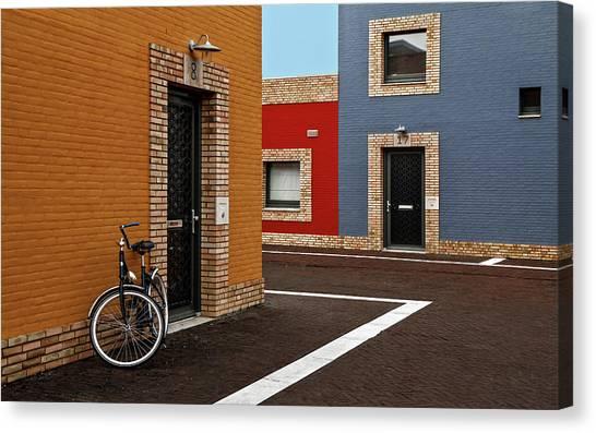 Bricks Canvas Print - Colored Facades by Gilbert Claes