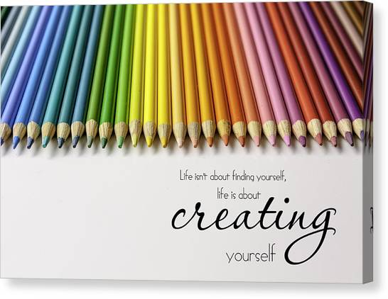 Colored Pencil Rainbow Canvas Print