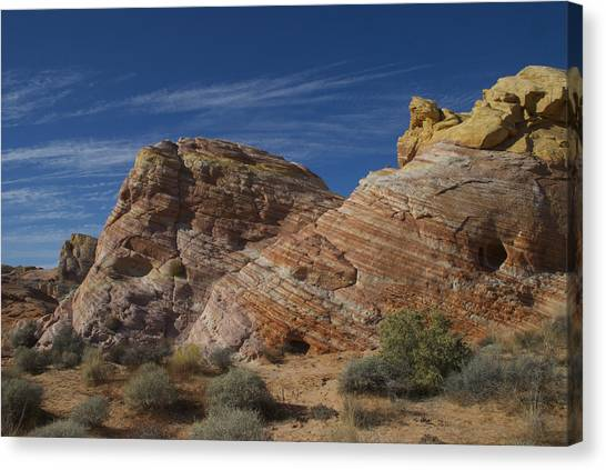 Colored Rocks Canvas Print by T C Brown